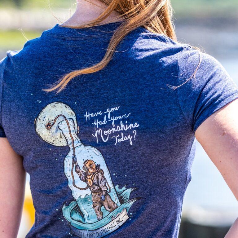 Womens Diver in a Bottle T Shirt