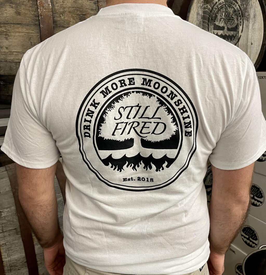 White Drink More Moonshine T Shirt