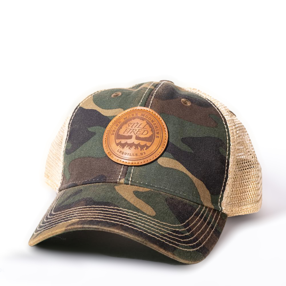 camo and beige mesh back hat